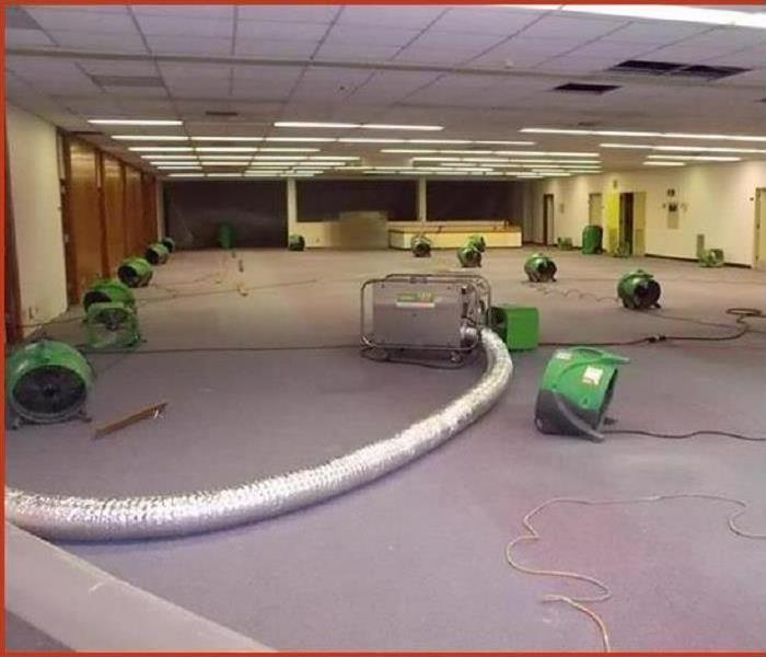 Drying Water Damage in Commercial Space After